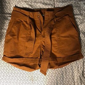 high waisted copper shorts